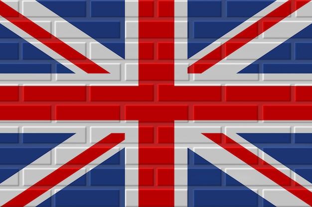 Ilustración de bandera de ladrillo de reino unido