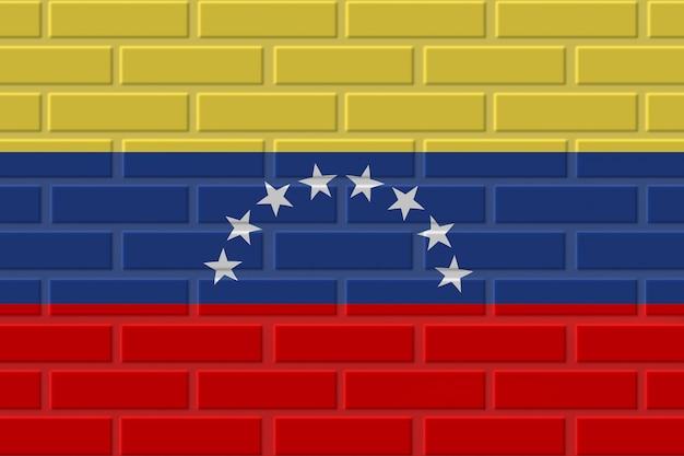 Ilustración de bandera de ladrillo de venezuela