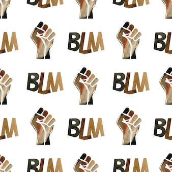 Ilustración de black lives matter