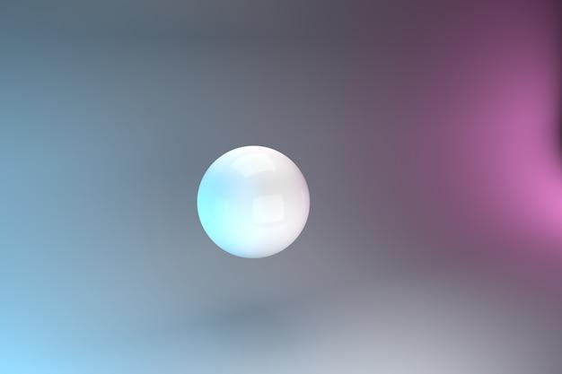 Ilustración de bola 3d / ilustración de fondo abstracto