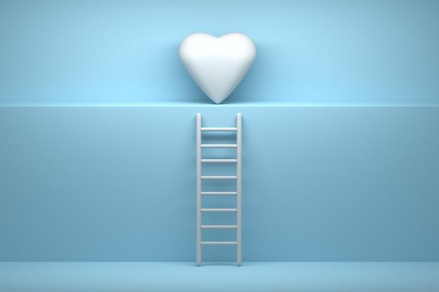 Ilustración de camino al amor