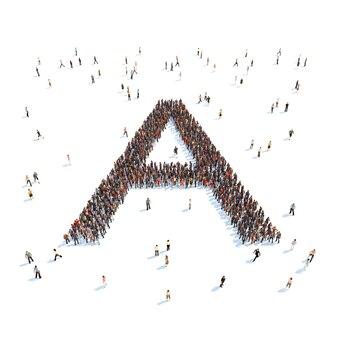 Ilustración de una carta con personas