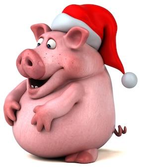 Ilustración de cerdo divertido