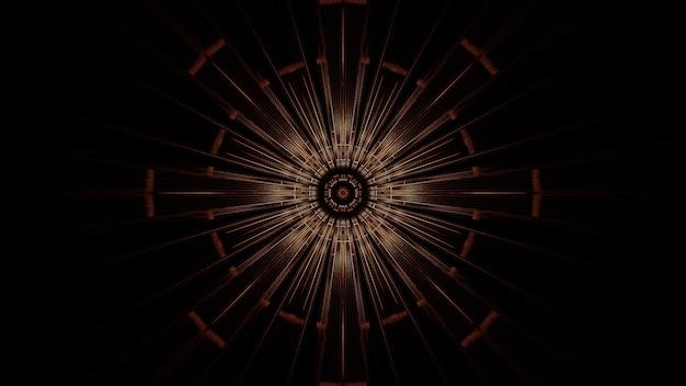 Ilustración de un círculo con efectos de luz de neón abstractos, ideal para un fondo futurista