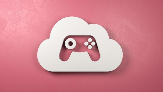 Ilustración de concepto de servicio de juegos en la nube