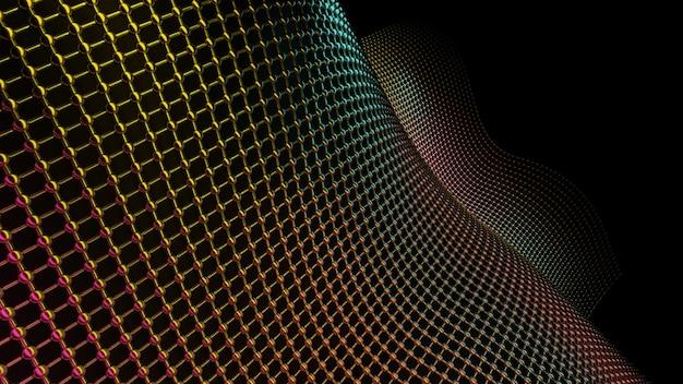 Ilustración de degradado colorido con líneas planas abstractas plantilla para su diseño representación 3d