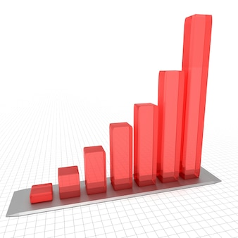 Ilustración de diagrama con el progreso creciente. conceptos de negocio