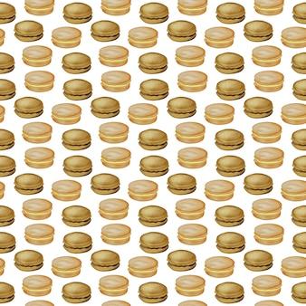 Ilustración digital de alimentos de patrones sin fisuras hamburguesas hamburguesas sándwiches hamburguesas hamburguesa de pollo