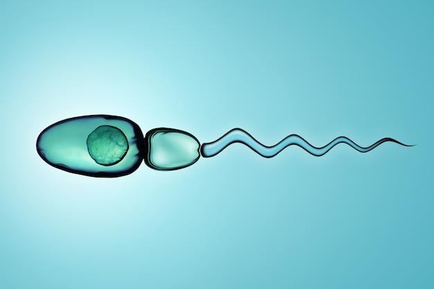 Ilustración digital de células de esperma