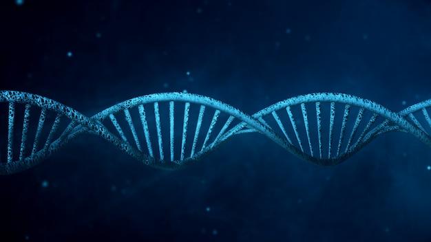 Ilustración digital estructura de adn en color de fondo ilustración 3d