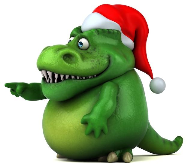 Ilustración de dinosaurio divertido