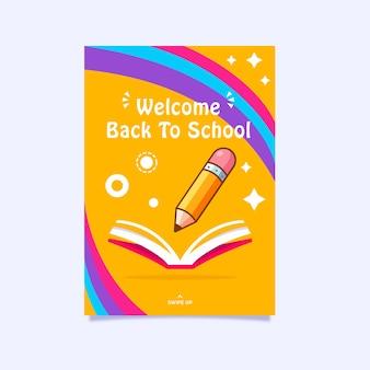 Ilustración de diseño de cartel o volante de regreso a la escuela