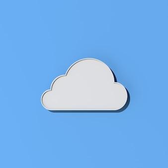 Ilustración del diseño de concepto de computación en la nube, representación 3d.