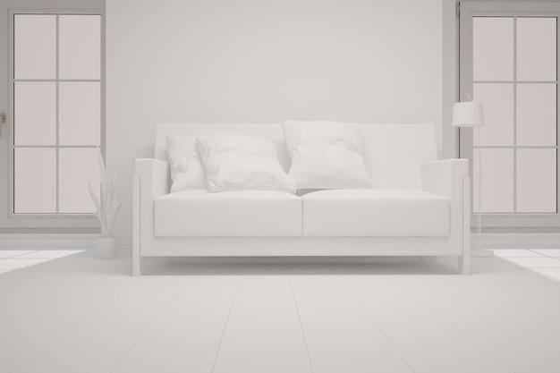 Ilustración de diseño de interiores moderno
