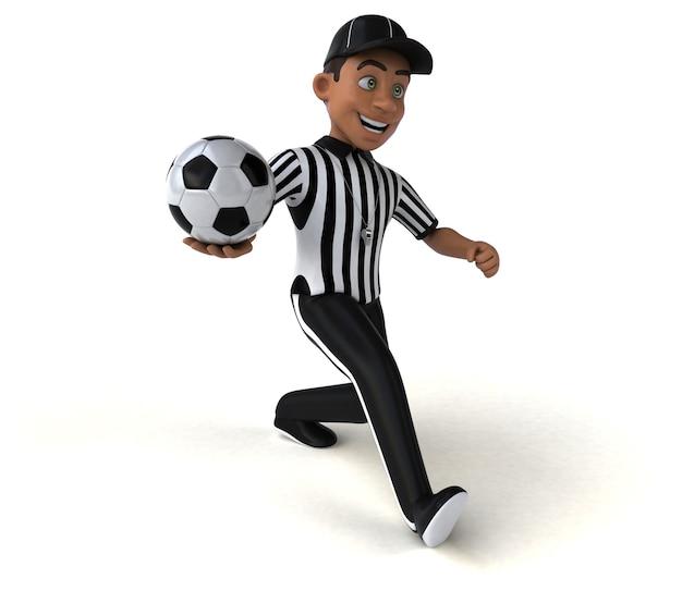 Ilustración divertida de un árbitro americano