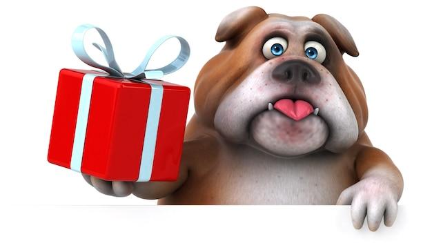 Ilustración divertida de bulldog