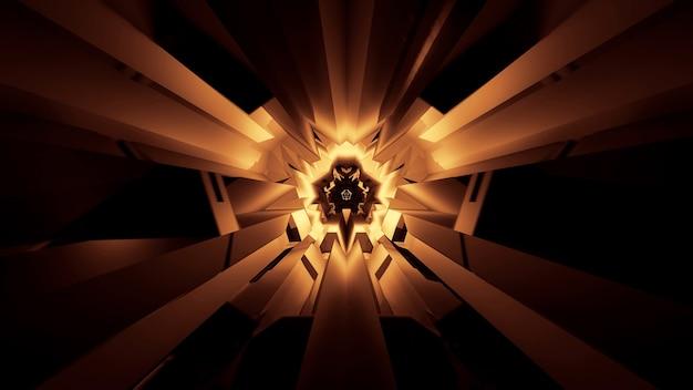Ilustración de efectos de luz de neón brillantes abstractos: ideal para un fondo futurista