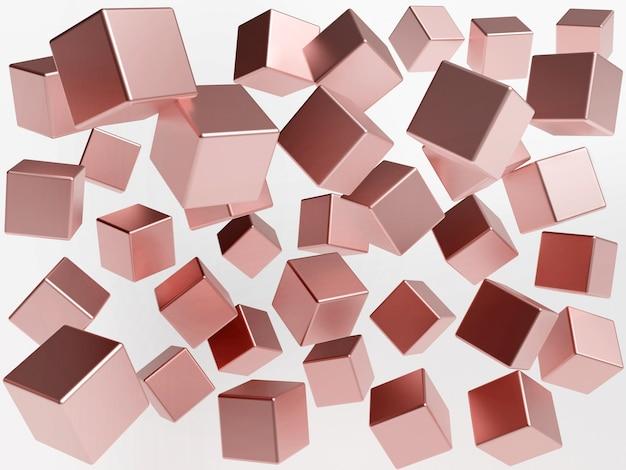 Ilustración de fondo abstracto 3d cubos