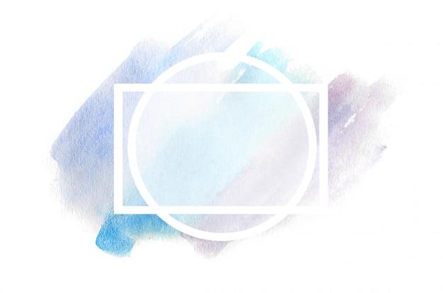 Ilustración de fondo abstracto en forma de tres trazos de acuarela