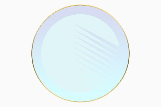 Ilustración de fondo de círculo color pastel logo con cuadrado en oro. fondo de logo de belleza y moda