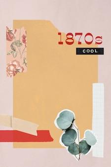 Ilustración de fondo de collage vintage
