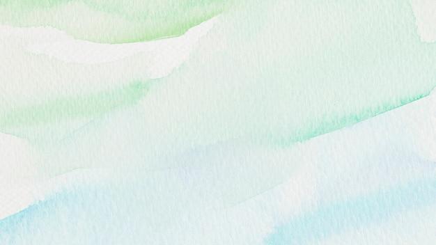 Ilustración de fondo de estilo acuarela verde y azul