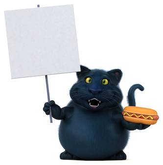 Ilustración de gato divertido