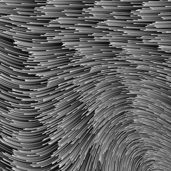 Ilustración gris con líneas. línea de velocidad monocromática o fondo abstracto de movimiento del viento. ondas de energía brillantes sobre fondo oscuro, patrón de semitono digital