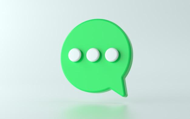 Ilustración de icono de chat 3d