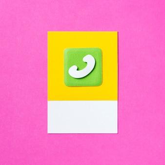 Ilustración de icono de comunicación de llamada telefónica