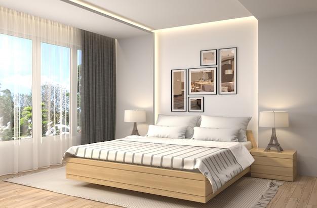 Ilustración interior del dormitorio