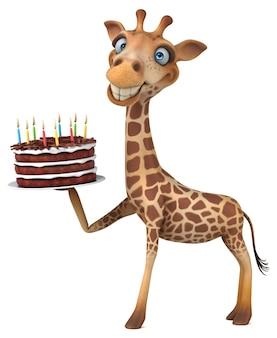 Ilustración de jirafa divertida
