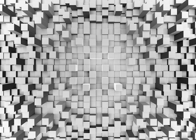 Ilustración de mosaico abstracto fondo gris tridimensional