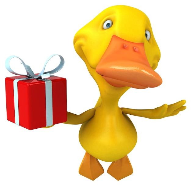Ilustración de pato divertido
