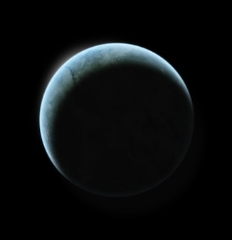 Ilustración del planeta en sistema estelar distante
