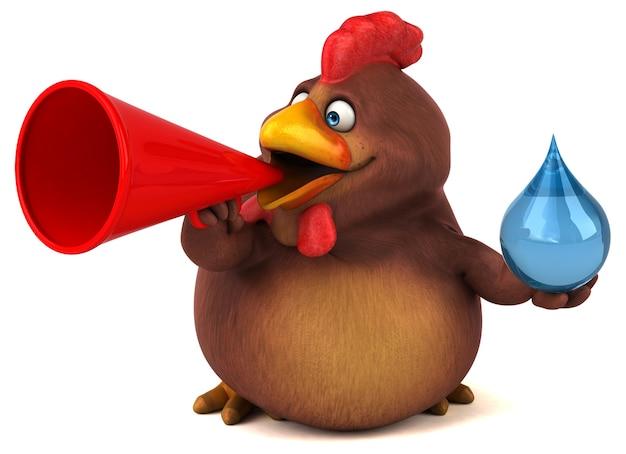 Ilustración de pollo divertido