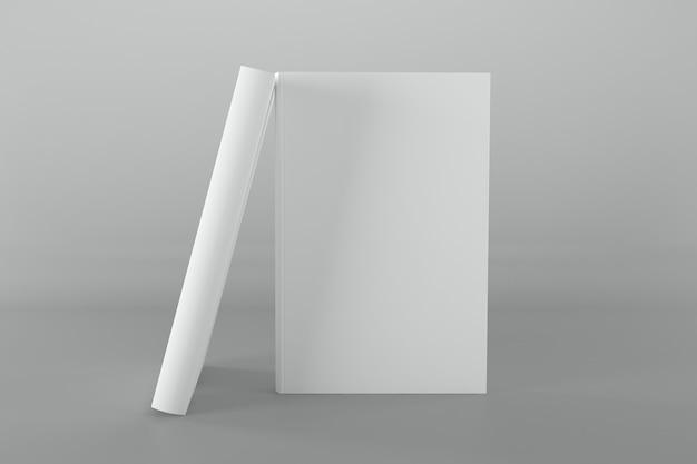Ilustración de renderizado 3d de maqueta de portada de libro