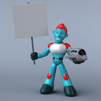 Ilustración de robot rojo