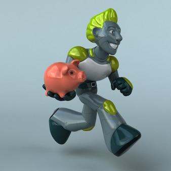 Ilustración de robot verde