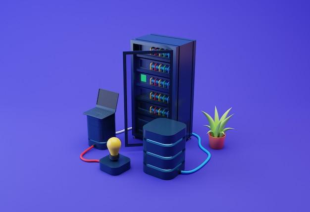 Ilustración de servidores de datos