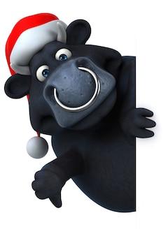 Ilustración de toro negro