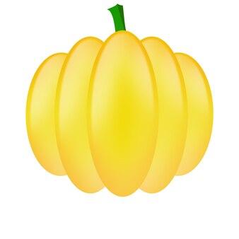 Ilustración de vector de calabaza naranja otoño halloween calabaza vegetal icono gráfico imprimir aislar