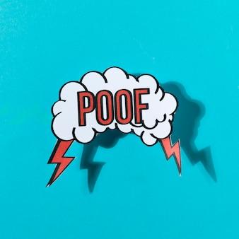 Ilustración vectorial en un estilo retro del arte pop en el fondo azul