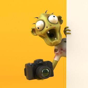 Ilustración de zombie divertido