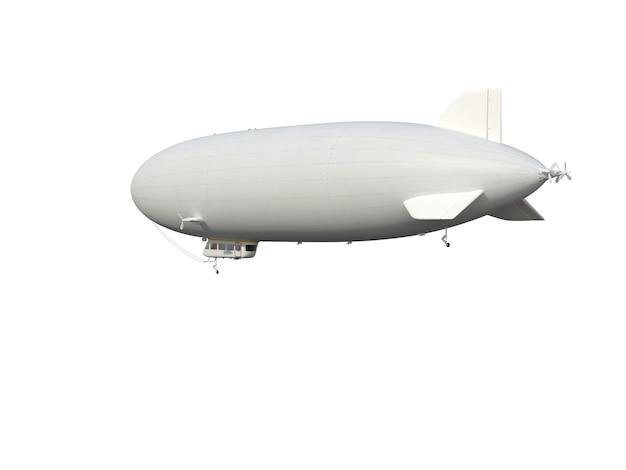Ilustrar de un dirigible, aislado, fondo blanco.