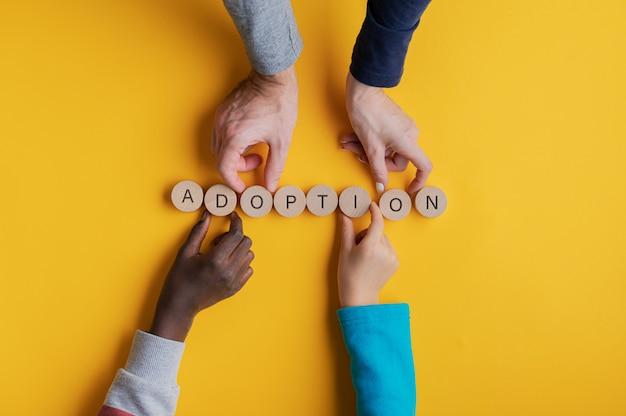 Imagen conceptual de adopcion