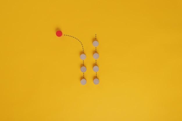 Imagen conceptual de individualidad y singularidad.