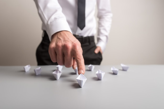Imagen conceptual del liderazgo empresarial.