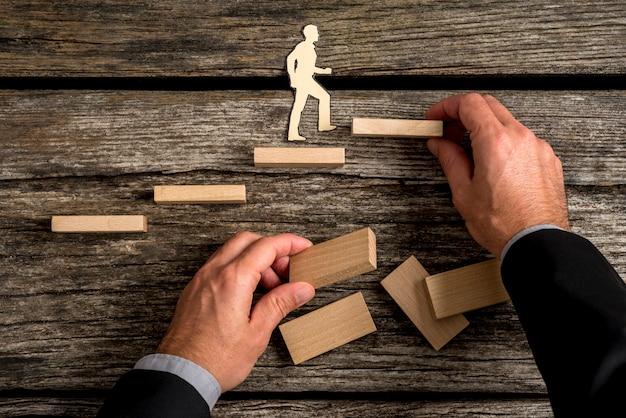 Imagen conceptual de promoción personal y profesional.