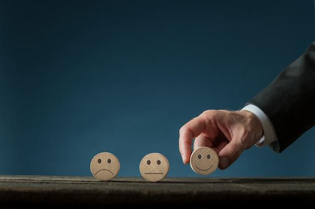 Imagen conceptual de satisfacción empresarial.